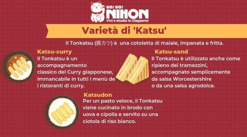 Varietà di katsu giapponese