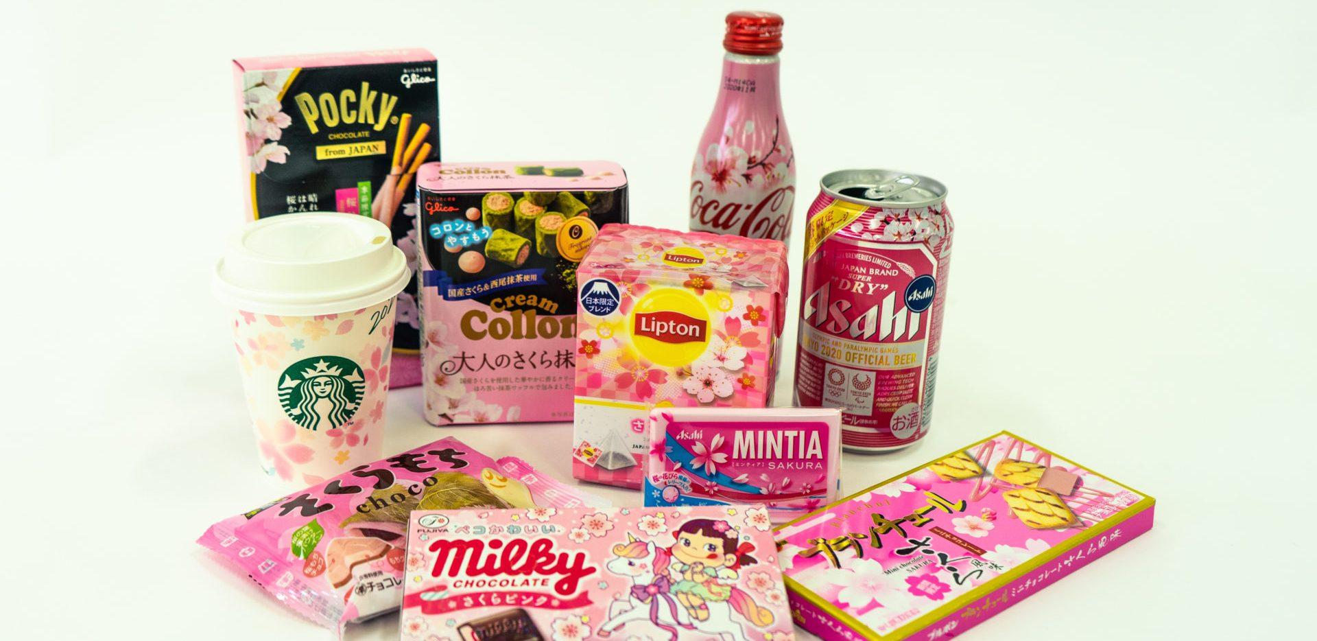 Les boissons et la nourriture goût Sakura en 2020
