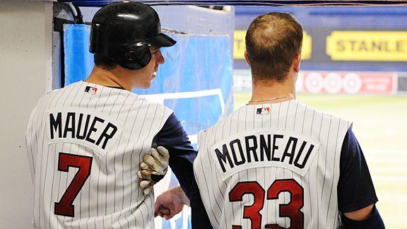 Minnesota Twins Joe Mauer and Justin Morneau