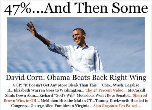 Mother Jones Homepage After 2012 Election