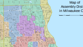 Map of Assembly Districts for Milwaukee County, Wisconsin
