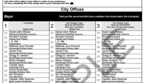 Minneapolis Ward 5 Municipal Election 2017 Sample Ballot