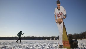Minnesota Twins Brian Dozier on Ice