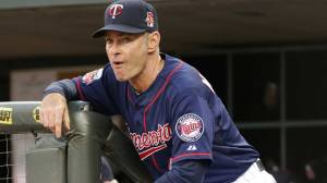 Minnesota Twins' coach Paul Molitor does his best Gardy impression