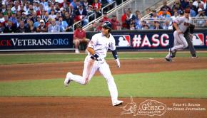 New York Yankee Derek Jeter runs the bases at the 2014 MLB All-Star Game at Target Field in Minneapolis