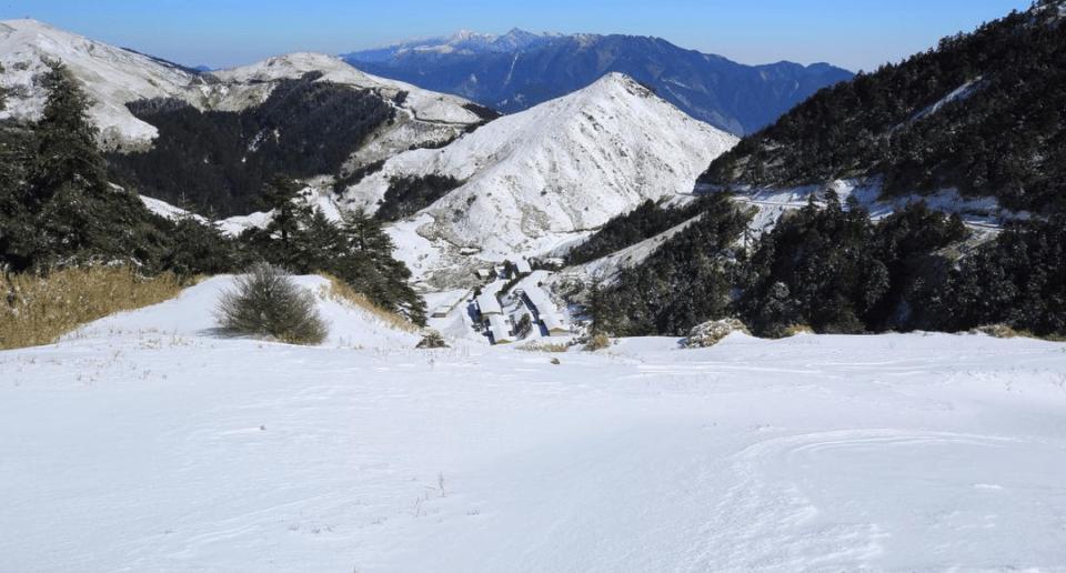 南投景點,清境,合歡山,下雪