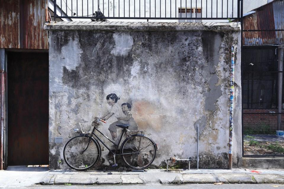 壁畫,馬來西亞,檳城,自助,旅遊,檳城景點,馬來西亞景點