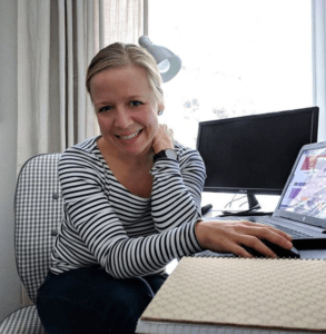 Alison LaMantia in her home office