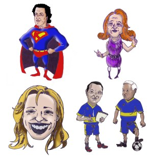 Caricature of teachers of mine