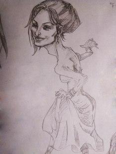 Penelope Cruz caricature sketch