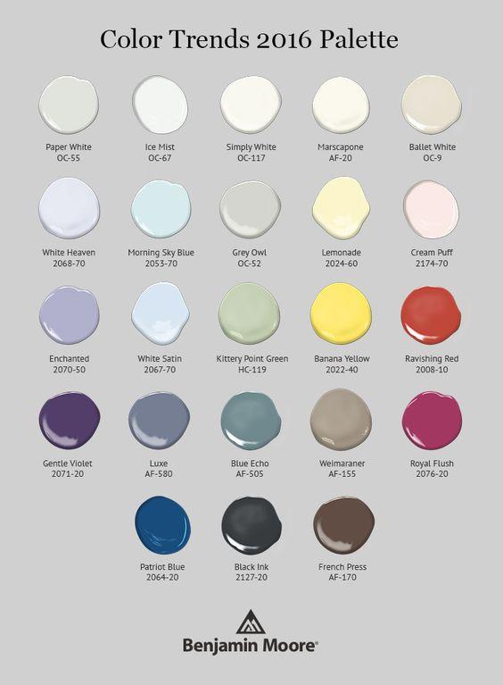 2016 Benjamin Moore Color Trends