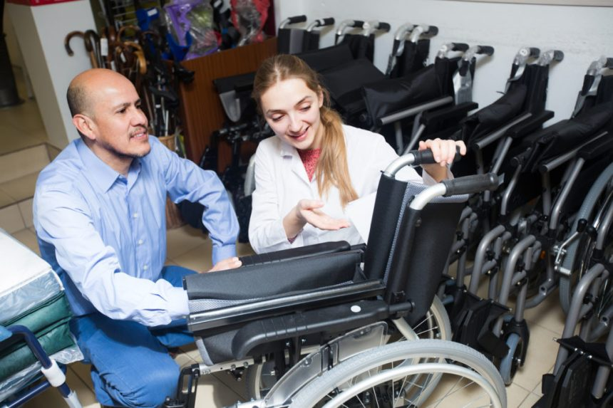 Ask for advice from a trained professional in selecting the right kind of wheelchair for your loved one.