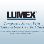 Graham-Field Introduces the Lumex Composite Silver Vein Hammertone Overbed Table