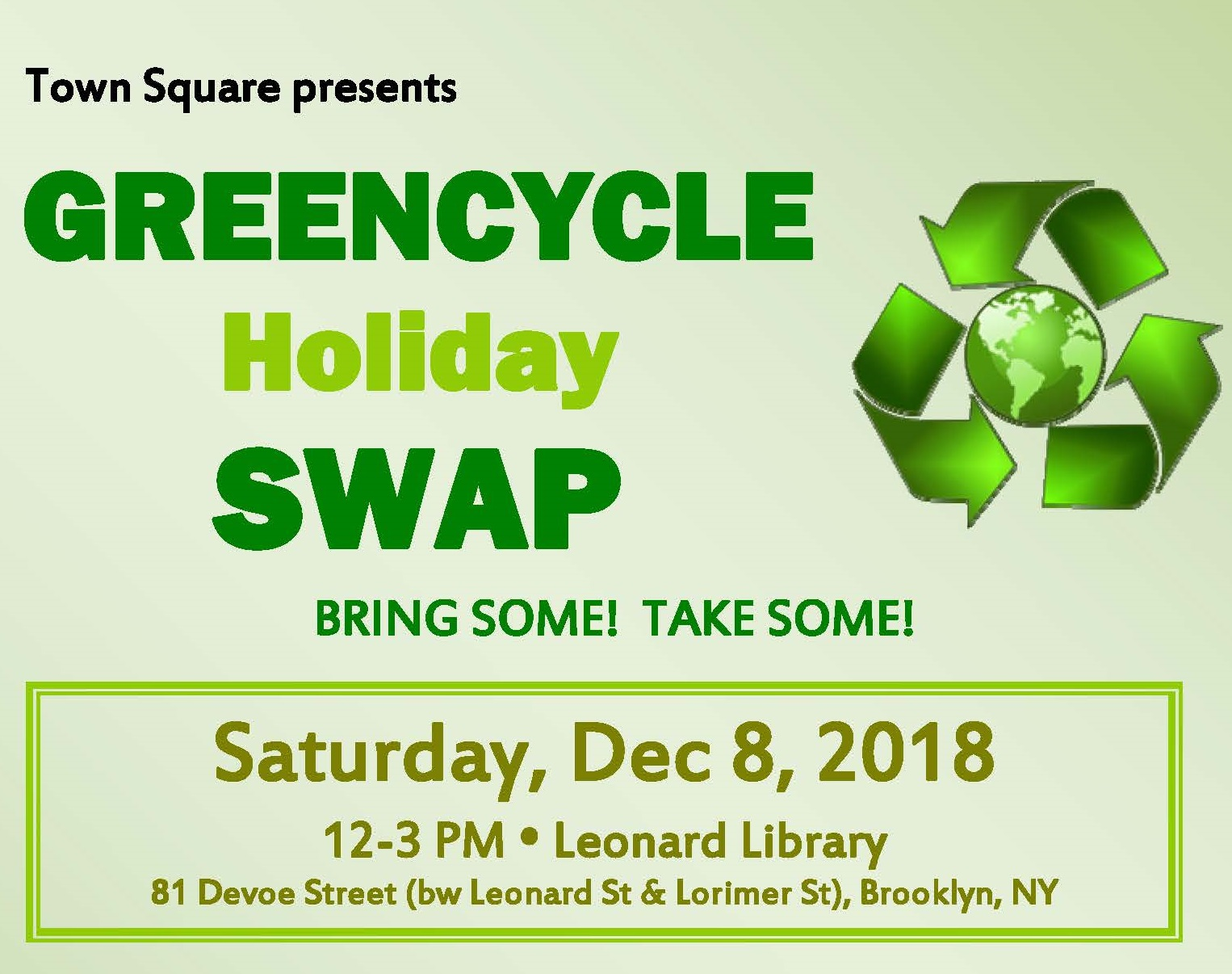 Town Square S Greencycle Holiday Swap