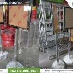 harga standing poster, standing poster, jual standing poster, standing poster stainless, standing poster akrilik