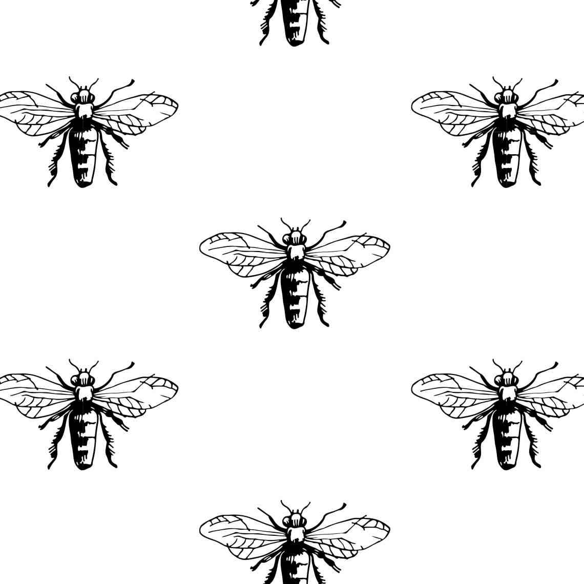 l'image de couverture avec motif abeille