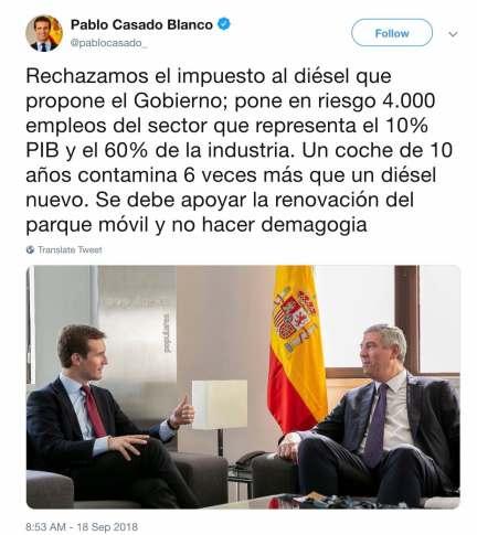 El diésel y Pablo Casado