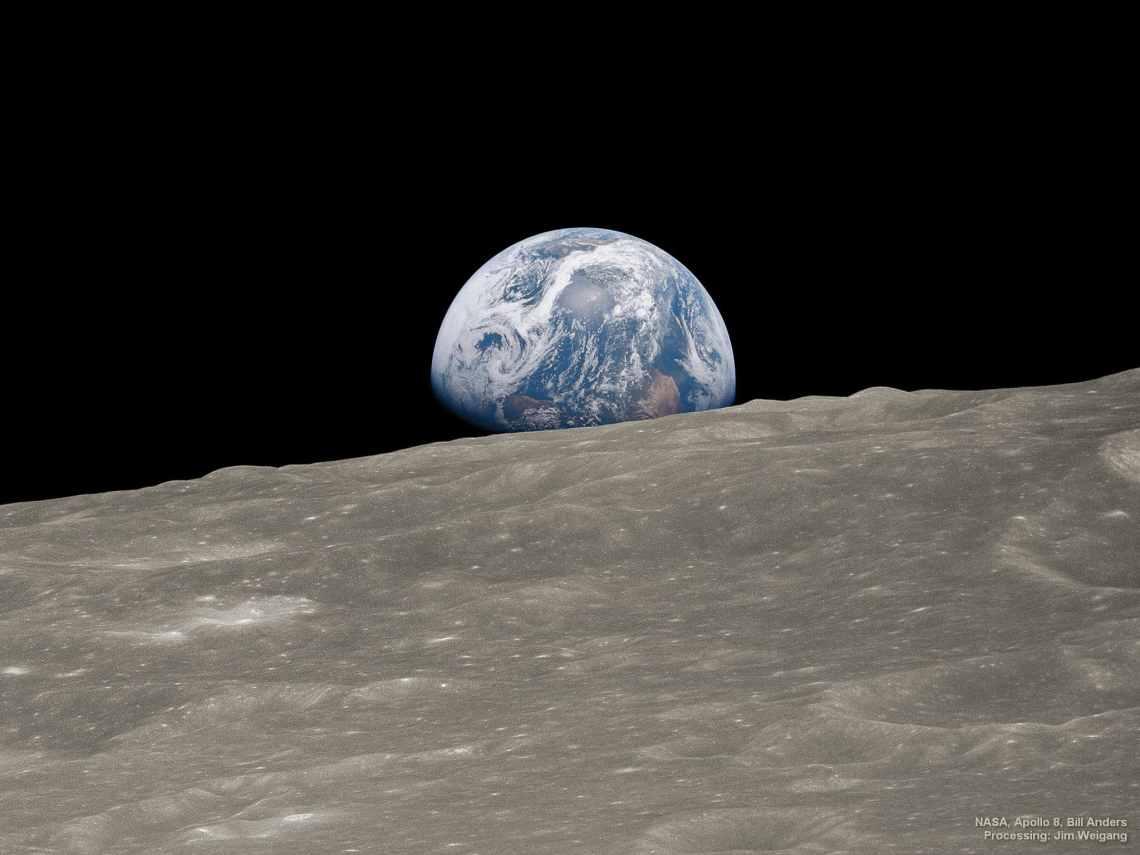 conservar la biosfera para salvar al planeta, imagen de la misión Apolo 8 del blog Go Green Madrid