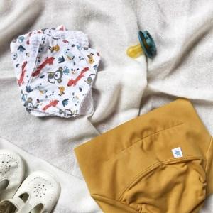 pañales de tela y compressas reutilizables para un bebe sin residuos