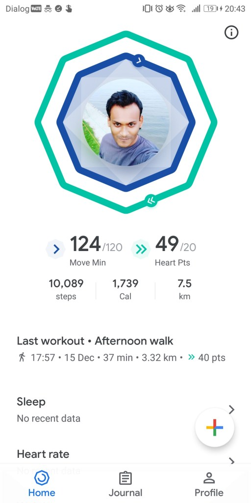 My Google Fit Profile