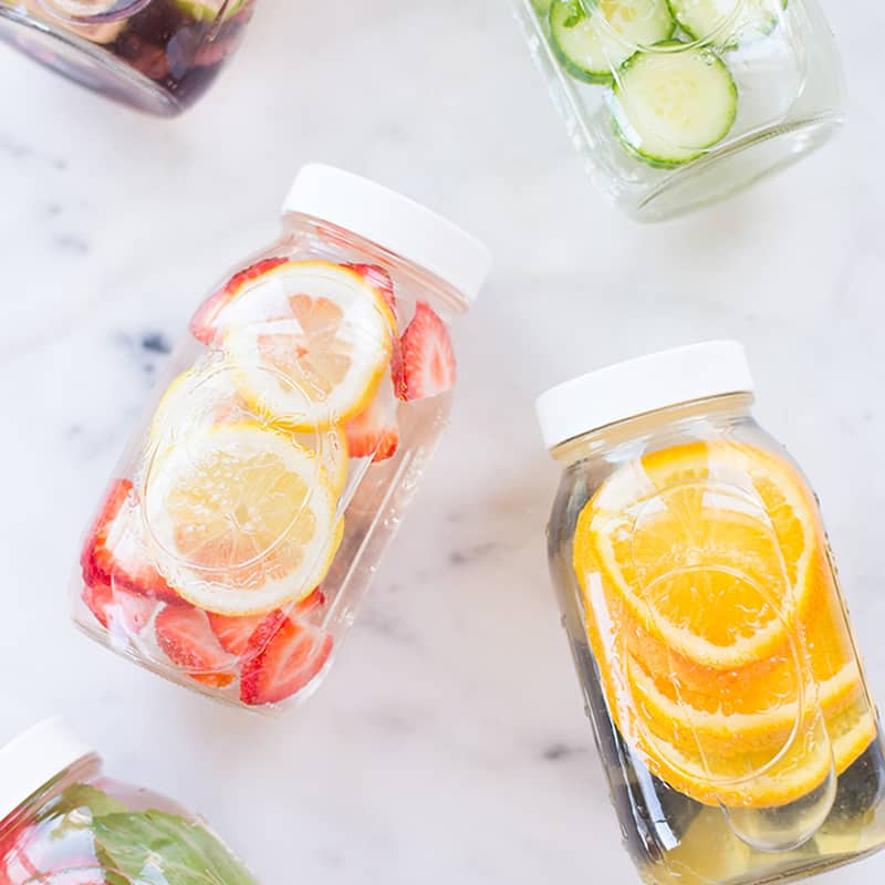Infused water is a great way to stay hydrated