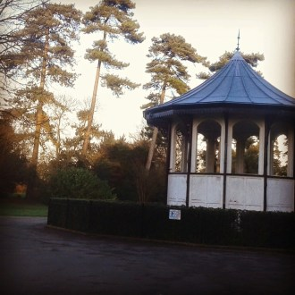 The bandstand in Bedford park, UK.