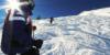 Hawkeye Guiding Blind Skier Kevin Foster