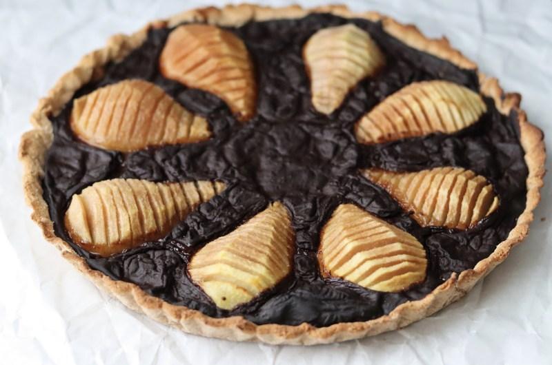 Pear and carob tart (Coconut free, AIP, vegan)