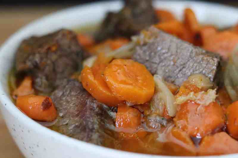 French Beef Carrot Stew (gluten free, AIP, paleo)