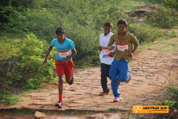 Young runners from Badami participating