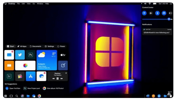 If Apple Created Windows 10 It Would Look Like This Concept Video
