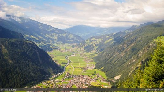 View to Zillertal from Ahorn