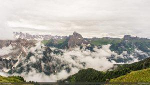 View West from Col de Cuch, Alta Via 2 above Passo Pordoi