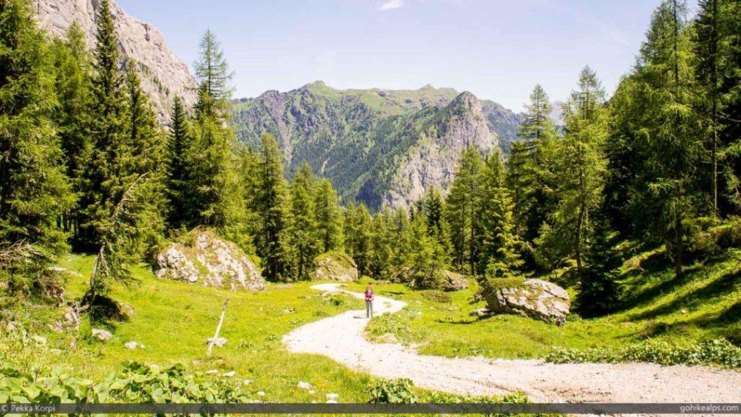 Ascent from Malga Ciapela