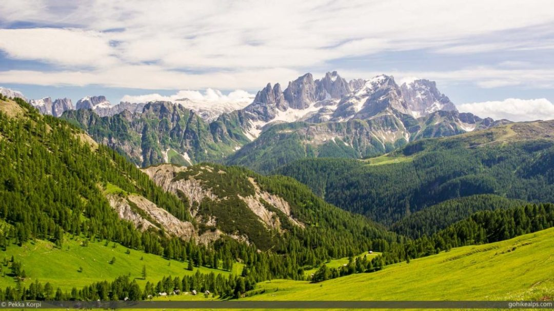 On the way to Passo di San Pellegrino