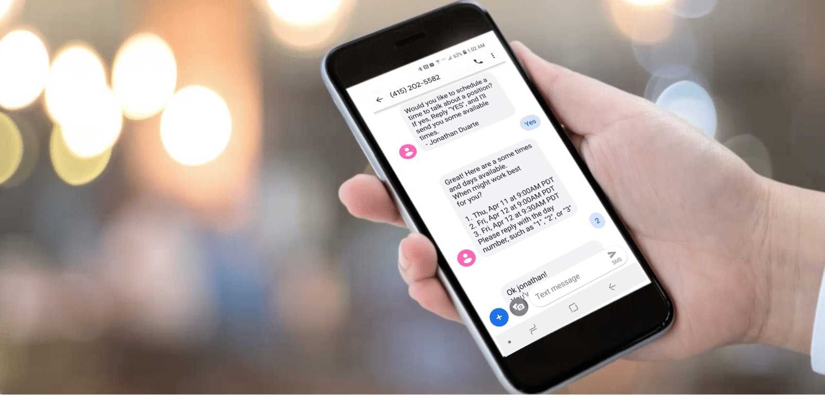 Automated Scheduling with Text Messaging