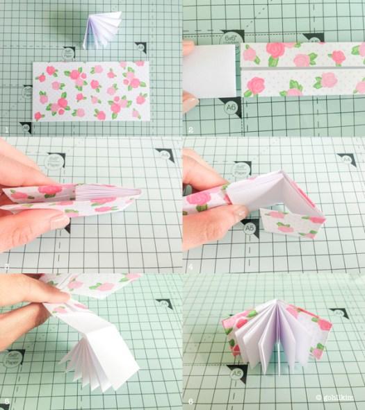 Paper Book Cover Tutorial : Origami mini book tutorial handmade