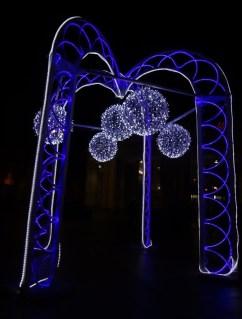 Lights installation in Zamoskvorecheye neighborhood of Moskow