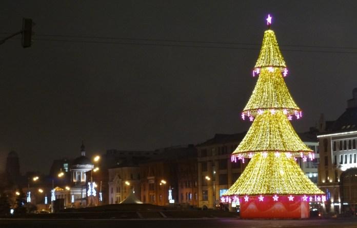 Lubyanka Square New Year's Tree