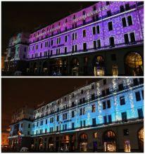 Metropol Hotel light show