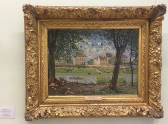 Alfred Sisley's Village on the Banks of the Seine. One of my all-time favorite Impressionist paintings. When I spent a summer working at Smith College, a much larger version from their collection hang opposite of my desk.
