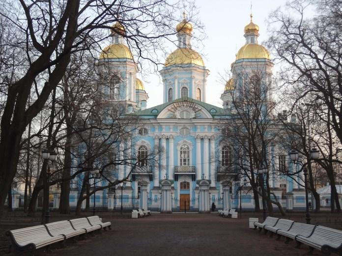 Baroque church of Saine Petersburg
