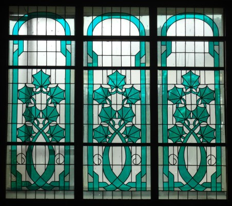 Vine motif, stained glass