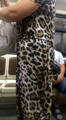 Yes, that is a leopard print jumpsuit you see.