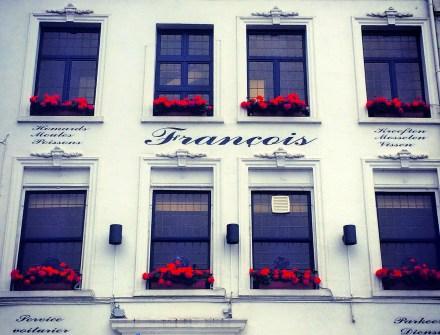 Beautiful windows of Brussels