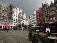 Groenplaats square by the Our Lady Cathedral in Antwerp