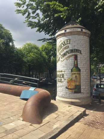 Street advertizing meets street art in Amsterdam