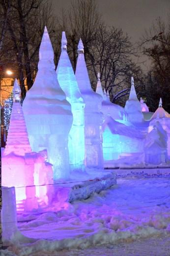 Hermitage Gardens ice sculpture 2