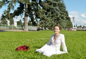 Me at the VDNKh park/complex in a much warmer time of the year.
