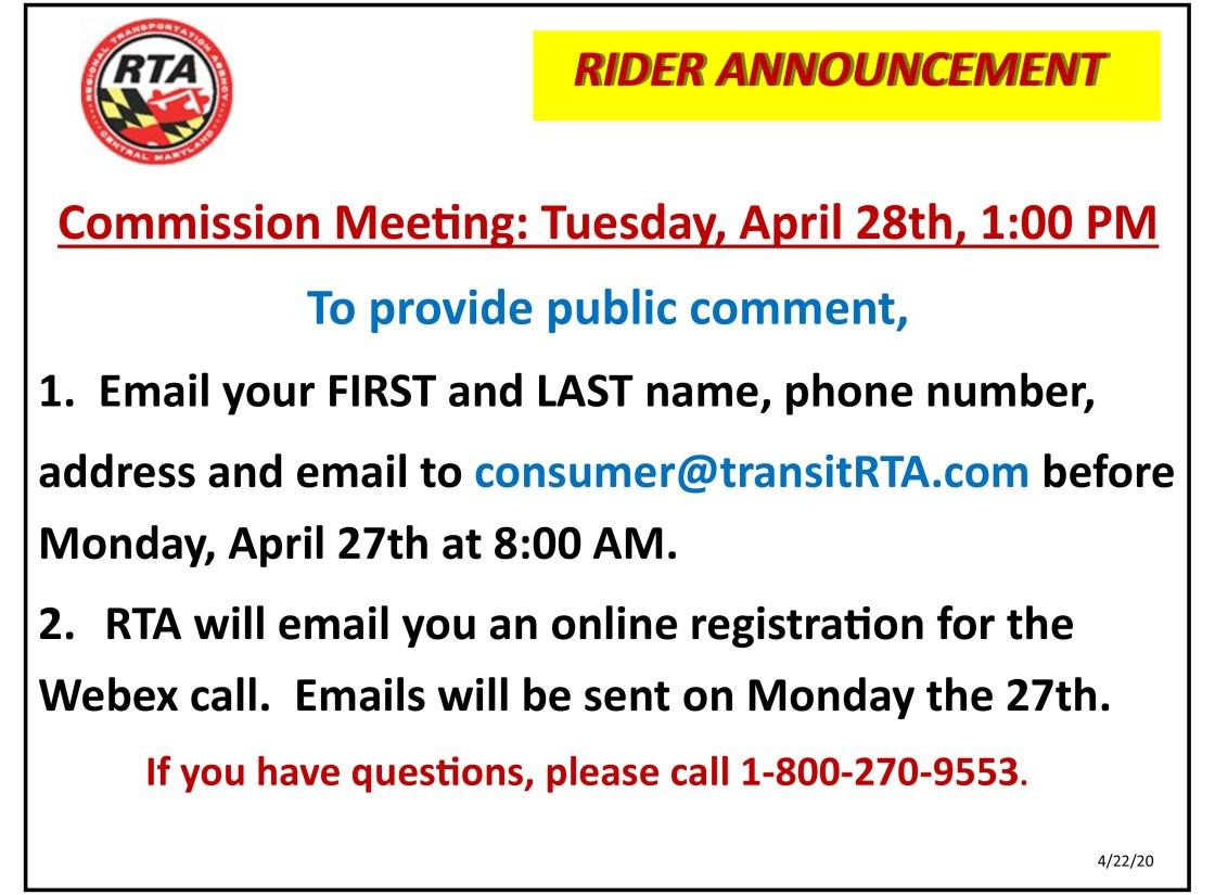 Commission Mtg April 28 2020 Rider Ann